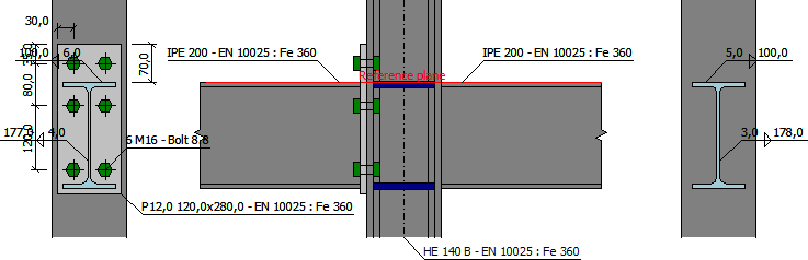 Beam to column connection with end plate | Engineering manuals | FIN