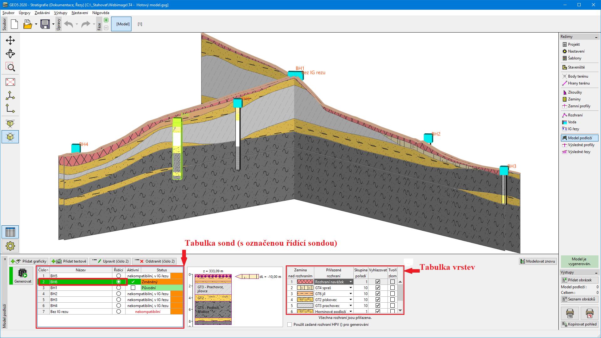 Model Podlozi Program Stratigrafie Geo5 Online Napoveda
