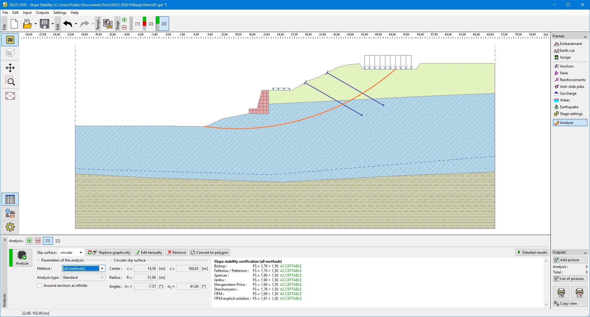 Analysis | Program Slope Stability | GEO5 | Online Help