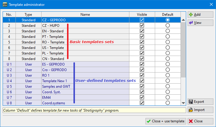 creation of user defined template templates geo5 online help