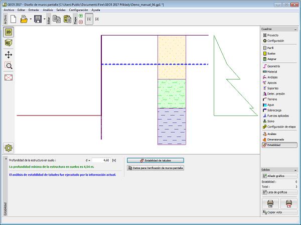 Estabilidad programa dise o de muros pantalla geo5 for Programa de diseno online