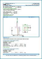GEO5 Einzelfundament CPT - einen Ausgabebericht