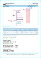 GEO5 Τοίχος με συρματοκιβώτια - Παράδειγμα εκτυπώσεων του προγράμματος