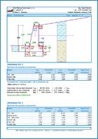 GEO5 Murs poids - Exemple de note de calcul Murs poids