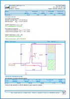 GEO5 Cantilever Wall - Output Report Sample