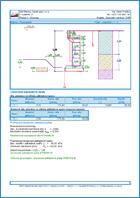 GEO5 Előregyártott fal - Példa kimeneti dokumentum