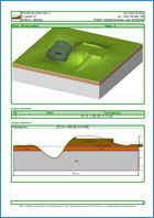 GEO5 Estratigrafia – Terraplanagem - Exemplo de relatório de saída