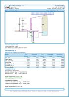 GEO5 Falazott szerkezet - Példa kimeneti dokumentum