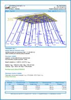 GEO5 Analiza grupy pali - Przykład raportu z programu