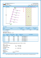 GEO5 Hřebíkovaný svah - Ukázka výstupu z programu Hřebíkované svahy