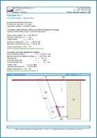 GEO5 Mikrocölöp - Példa kimeneti dokumentum