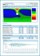 GEO5 - МКЭ – Землетрясение - Пример отчета программы