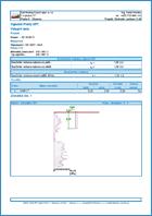 GEO5 Pilota CPT - Ukázka výstupu z programu Pilota CPT