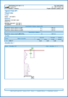 GEO5 Pilote por CPT -  Ejemplo de reporte de salida
