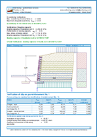 GEO5 - Redi-Rock Wall- Output Report Example