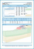 GEO5 Rézsűállékonyság - Példa kimeneti dokumentum