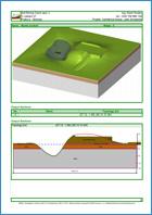 GEO5 Stratigrafie – Zemní práce - Ukázka výstupu z programu Stratigrafie – Zemní práce