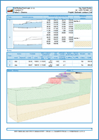 GEO5 Stateczność zbocza -  Przykład raportu z programu