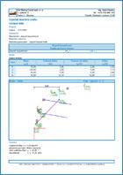 GEO5 Stateczność zbocza skalnego -  Przykład raportu z programu