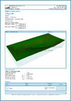 GEO5 Terén - Ukázka výstupu z programu Terén