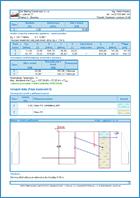 GEO5 Verificación de Muros Pantalla - Ejemplo de reporte de salida del programa