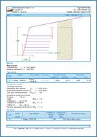 GEO5 Vyztužené náspy - Ukázka výstupu z programu Vyztužené náspy