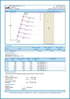GEO5 Zbocze gwoździowane - Przykład raportu z programu