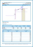 Zemní tlaky - Ukázka výstupu z programu Terén
