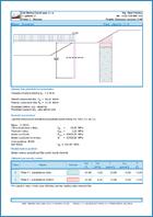 GEO5 Dizajn pilota u klizištima - Primjer izlaznog dokumenta