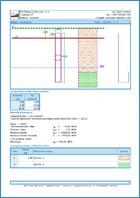 GEO5 Сваи - Пример отчета программы