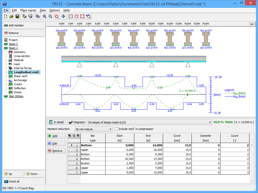 Concrete Beam Structural Software Fin Ec Fine