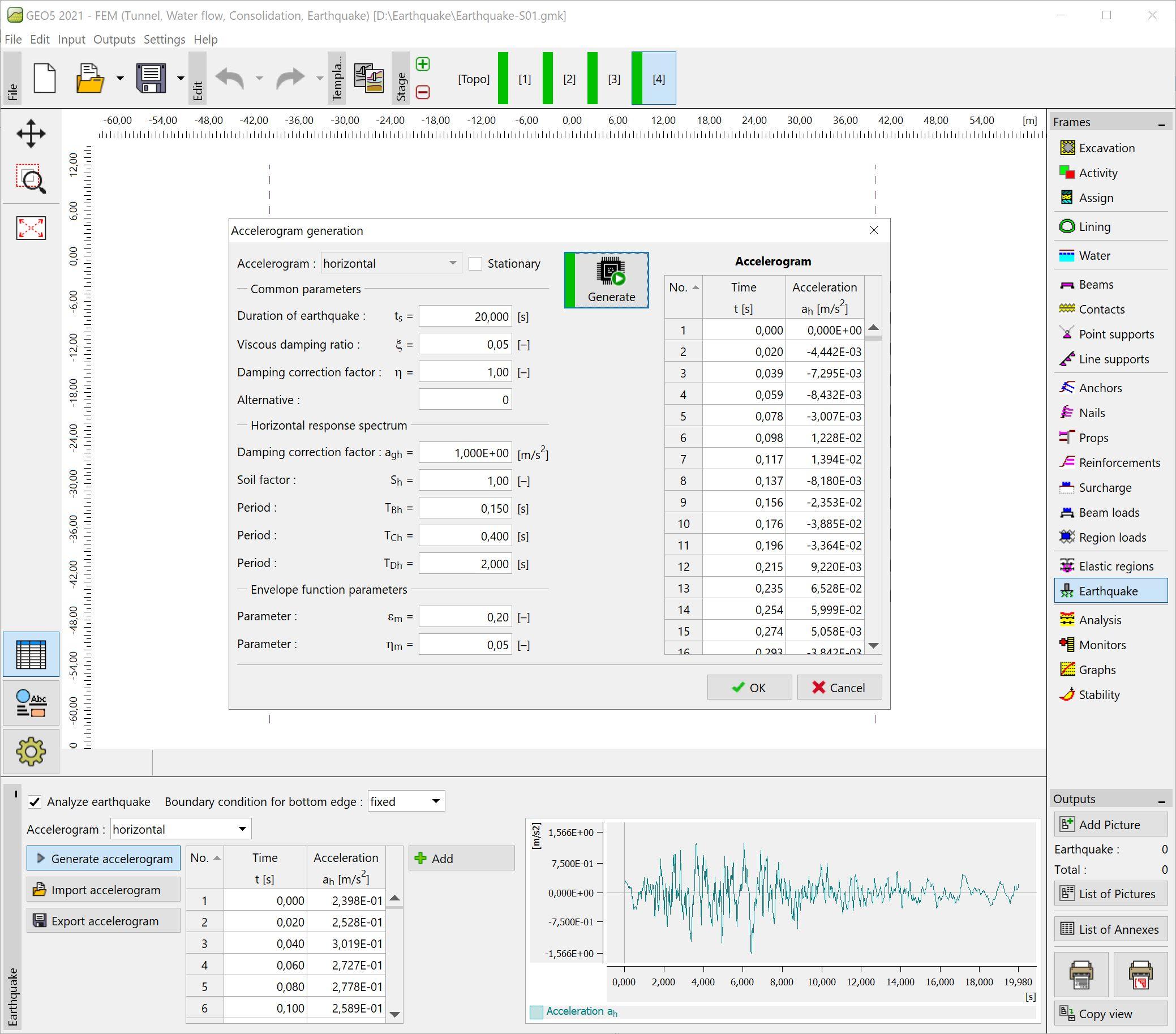 FEM – Earthquake : Accelerogram generation