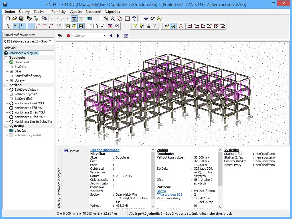 Fin 3D : Betonový skelet