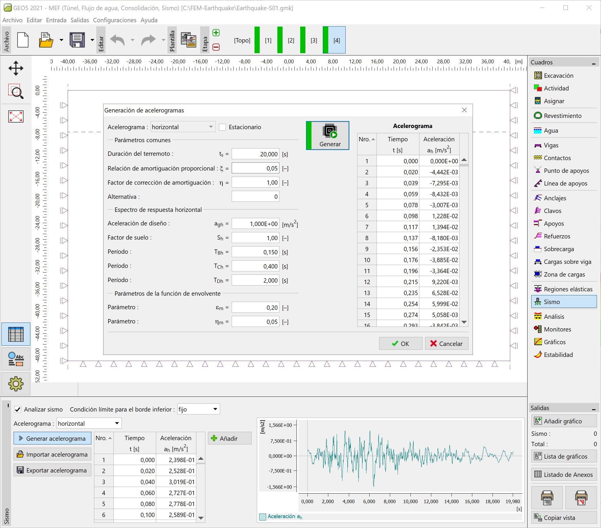 MEF – Sismo  : Generación de acelerogramas