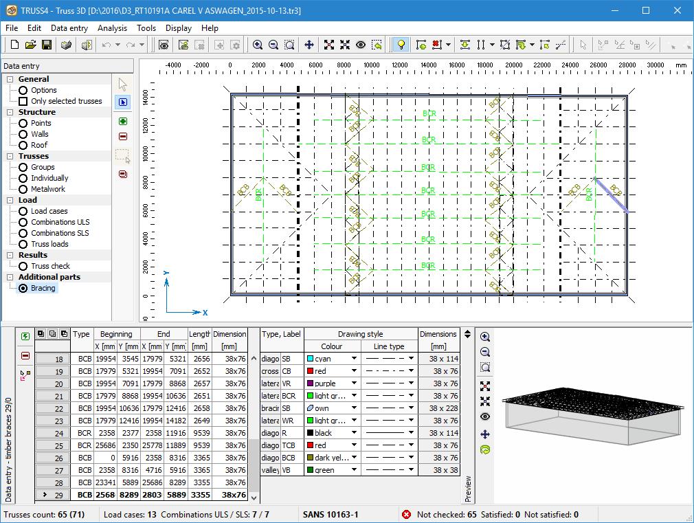 Manufacturing documentation | Roof Truss Design TRUSS4 | Fine