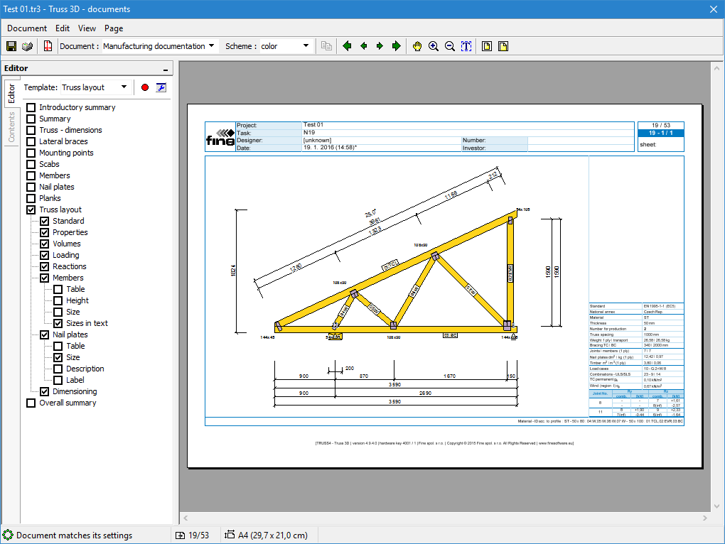 Truss drawing