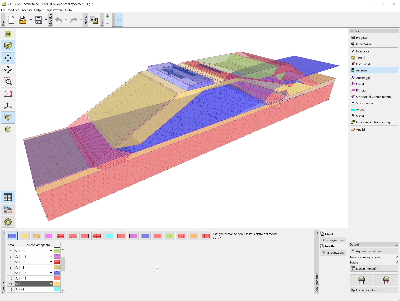 Stabilità dei Pendii : Vista 3D