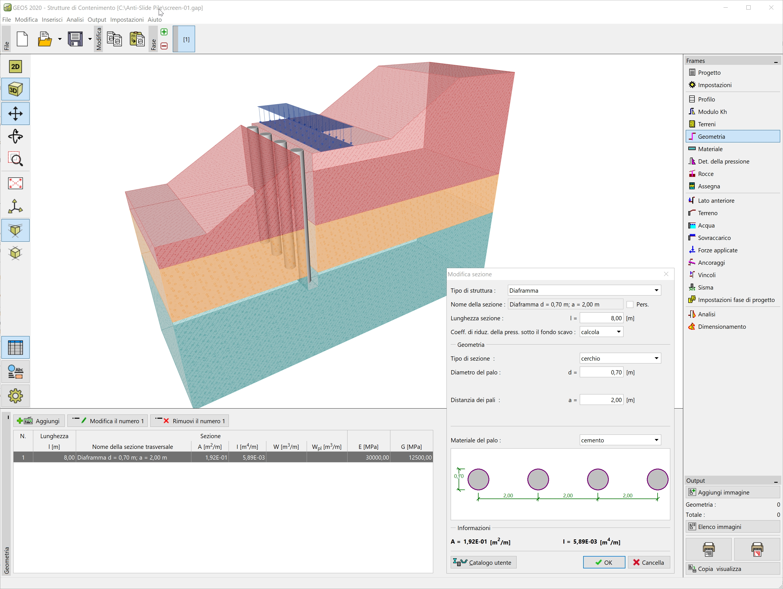 Strutture di Contenimento : Vista 3D