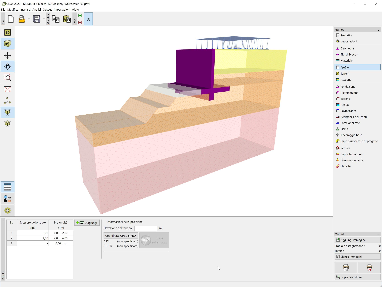 Muratura a Blocchi : Vista 3D