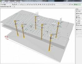 Modelo de terreno digital simplificado con estratificación del suelo y gwt
