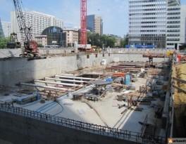 Celkový pohled na staveniště.